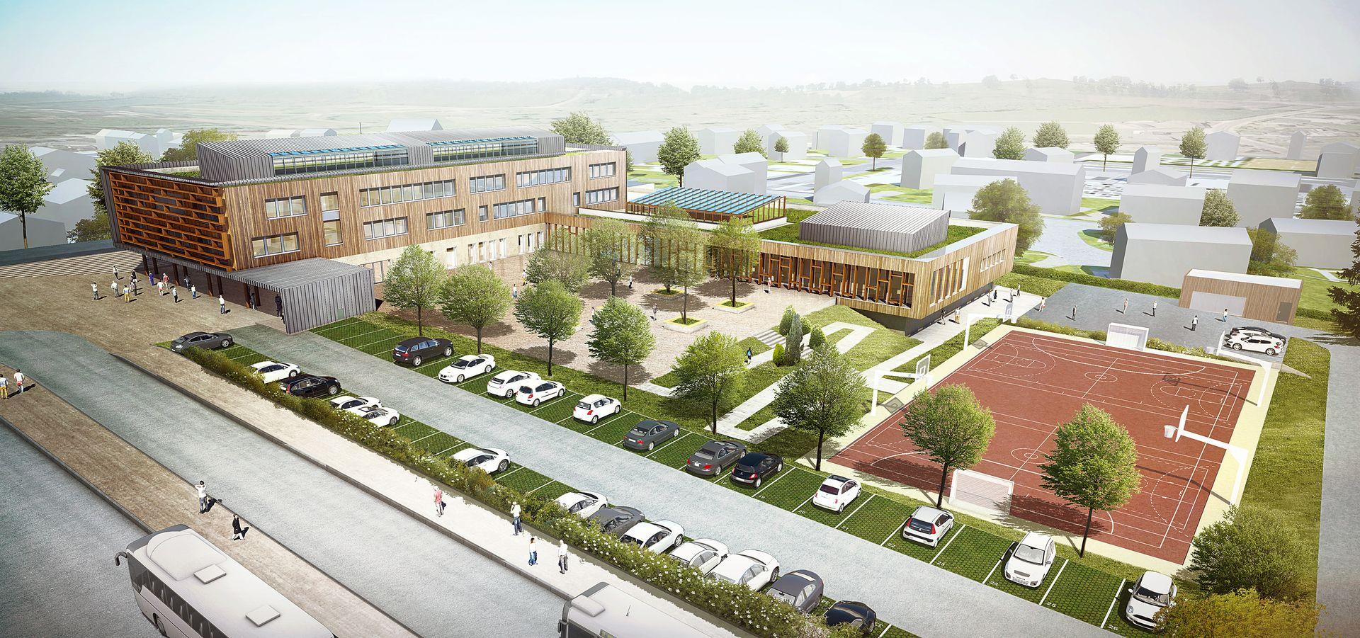 Collège-Bégard- Axonométrie