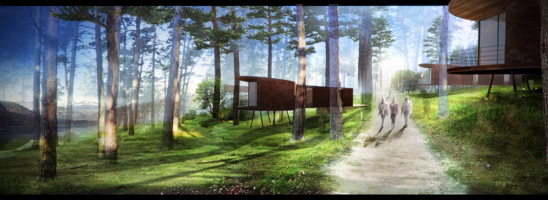 Perspective Ecolodge Lac Chambon